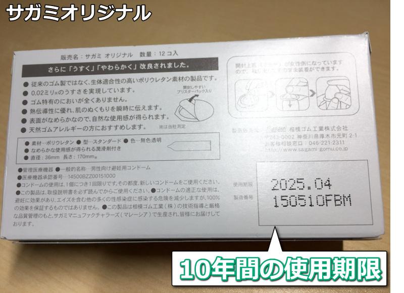 ポリウレタン製コンドームの使用期限