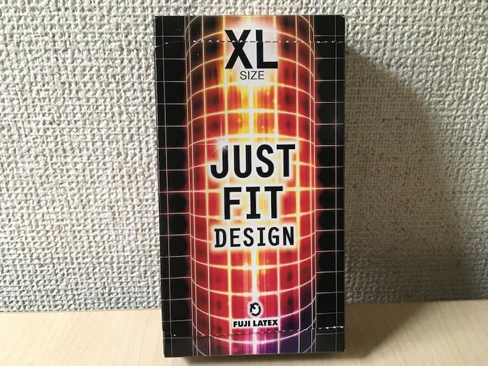 ジャストフィット「XLサイズ」のパッケージ