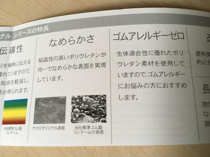 サガミオリジナル0.02mm(Lサイズ)の説明書④