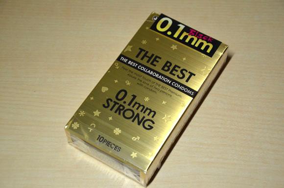 ザ・ベスト コンドーム0.1mmストロングのパッケージ表面