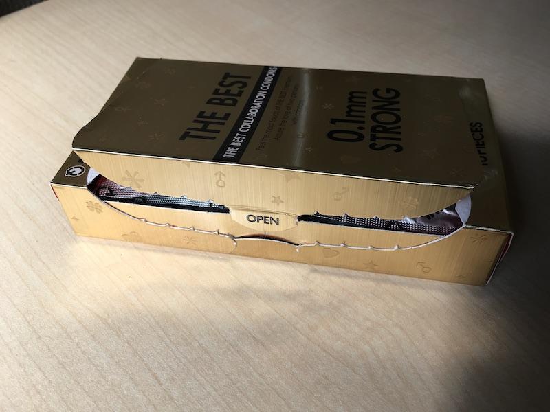 ザ・ベスト コンドーム0.1mmストロングのパッケージを開封!