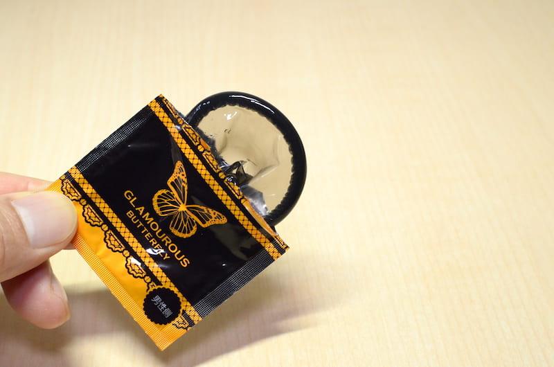 グラマラスバタフライ「Lサイズ」の個包装を開封したところ