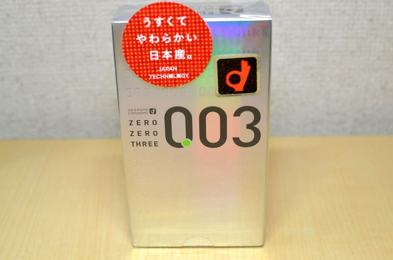 オカモト003(ゼロゼロスリー)の箱表面