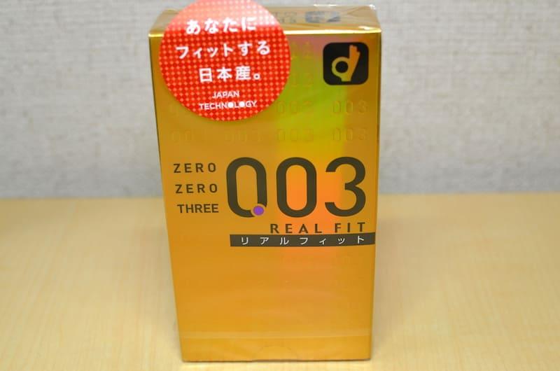 オカモト(リアルフィット003)の箱表側