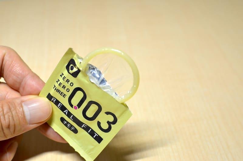 オカモト(リアルフィット003)の個別包装を開封