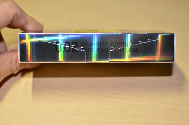 オカモトゼロツー(0.02) Lサイズのパッケージ横側