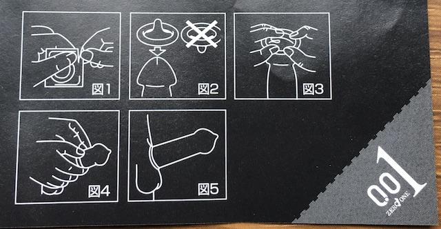 オカモトゼロワン(Lサイズ)の装着方法