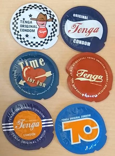 TENGAオリジナルコンドームの6デザイン
